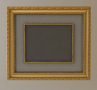 wall frame gold 3d model
