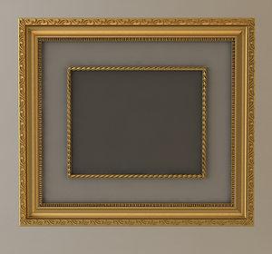 wall frame gold 3d model