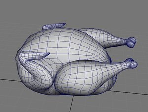 roast chicken 3d fbx