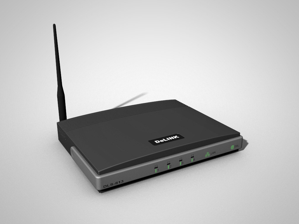 3d wireless router modem model