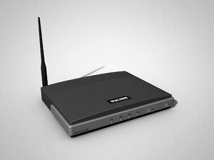 3d wireless router modem model