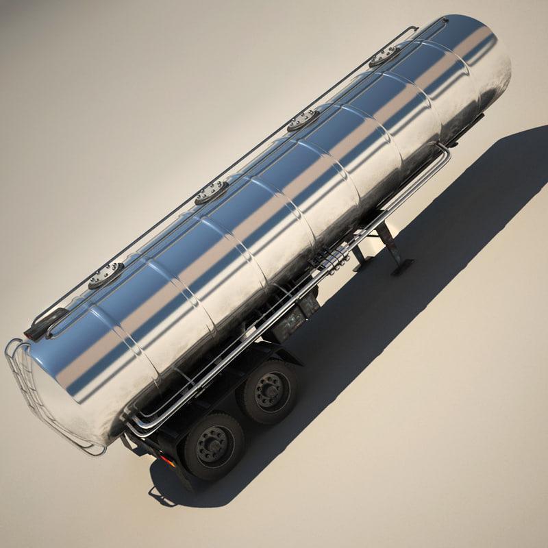 3d truck trailer cistern tanker model