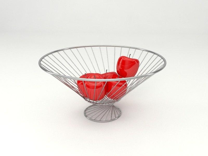 3d model of fruit busket