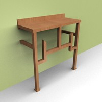 max lite brown wall table