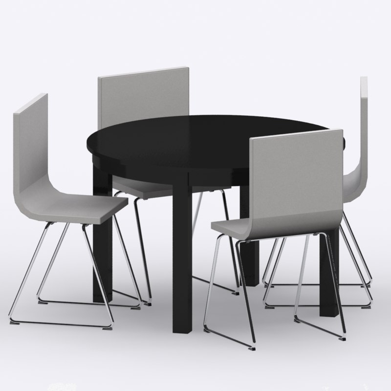 3d ikea bjursta table bernhard model. Black Bedroom Furniture Sets. Home Design Ideas
