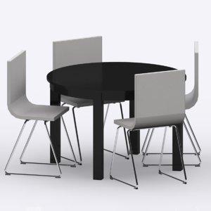 3d ikea bjursta table bernhard model