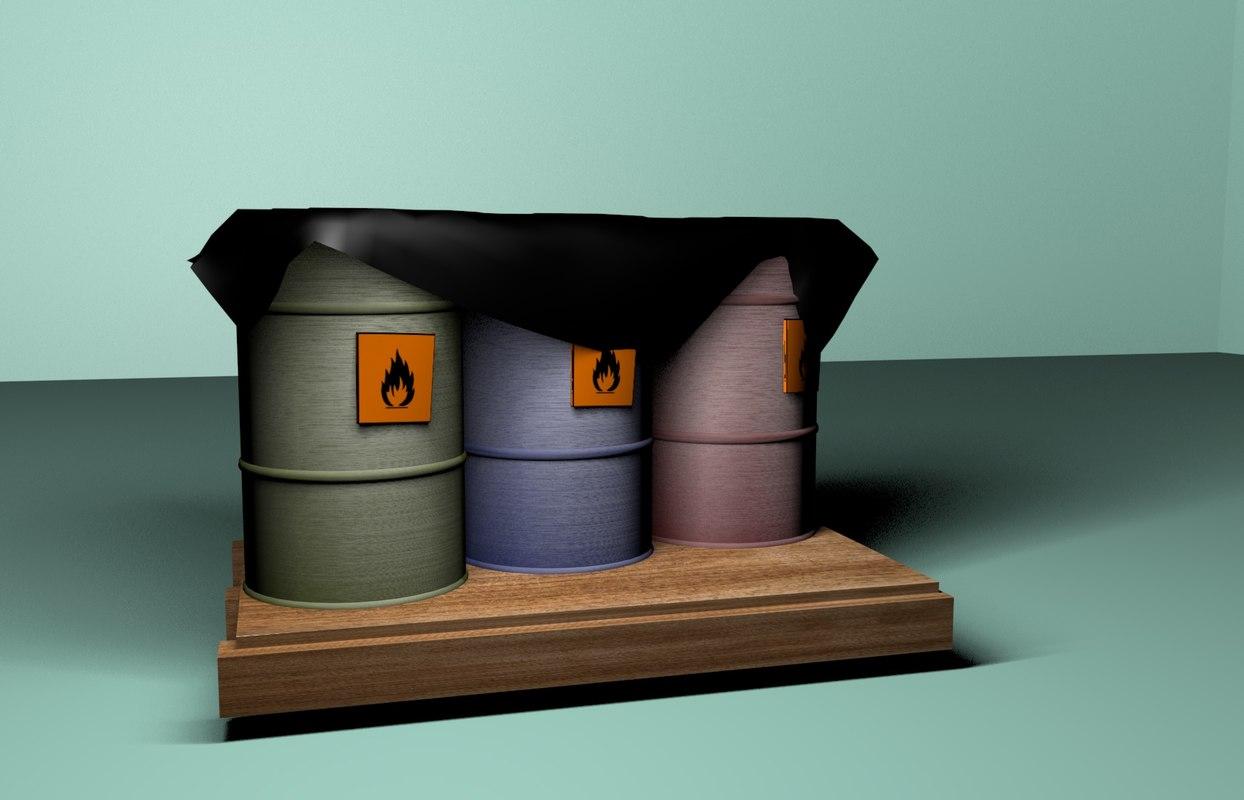c4d iron barrels