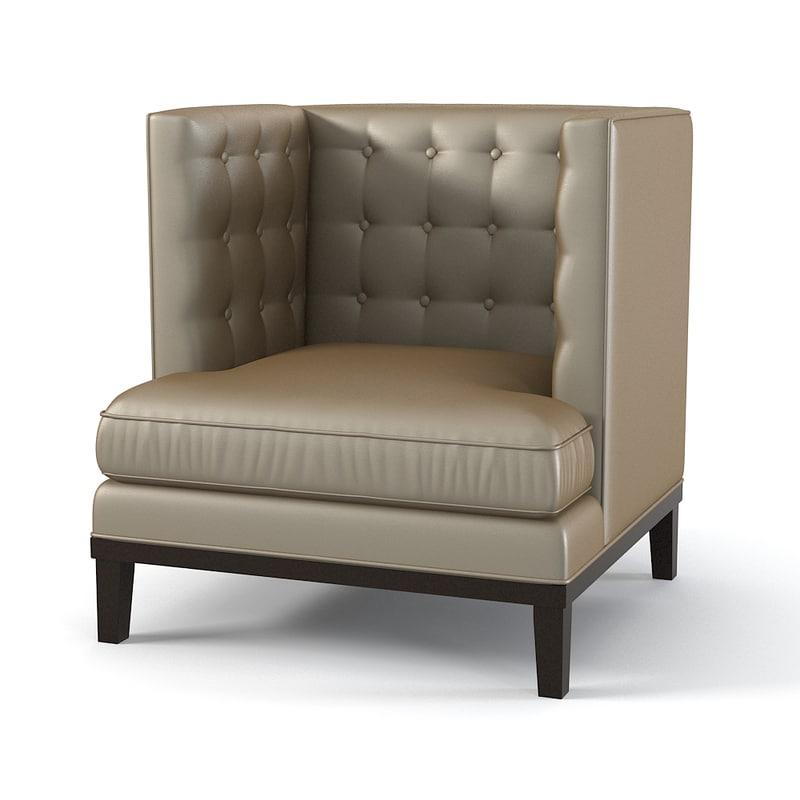 brooklea noho armchair 3d model