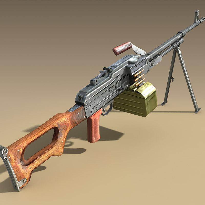 3d russian pkm model
