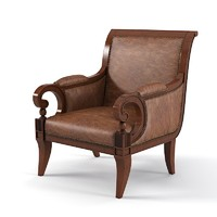 Century English Saddle Arm chair 3674