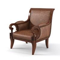Century English Saddle Arm chair 3674