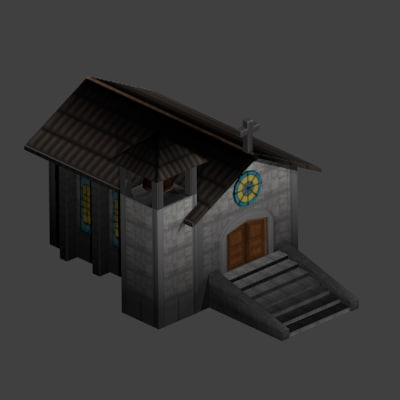 3d medieval church