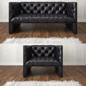 3d chair sofa armchair