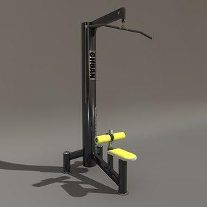 c4d gym fitness machine