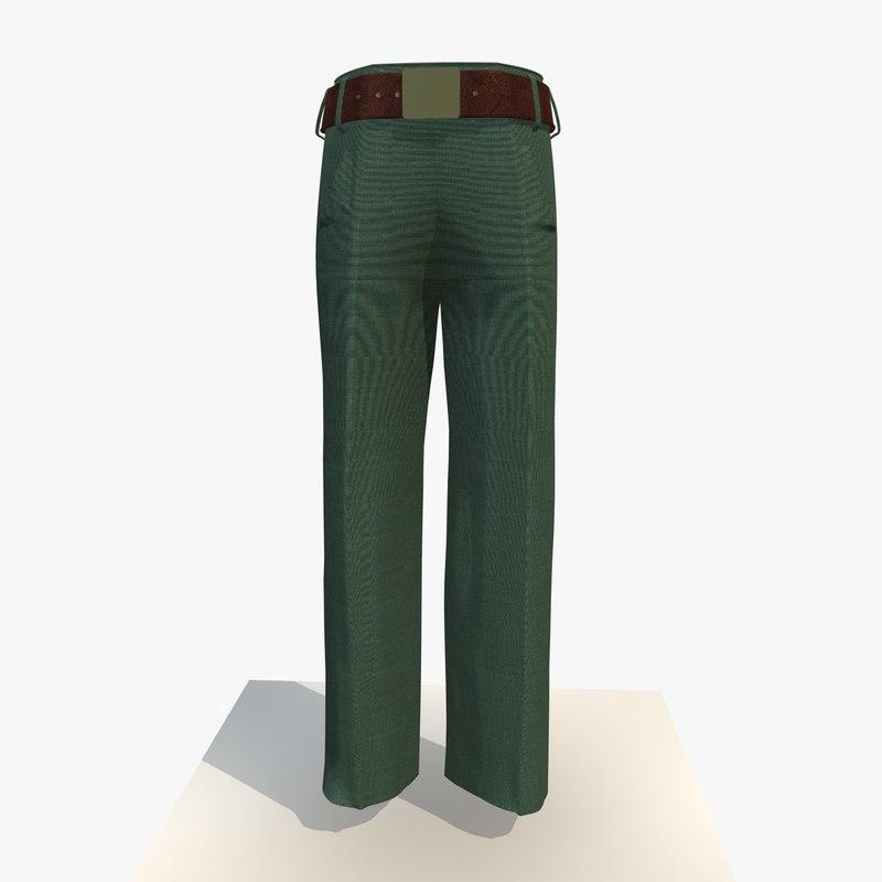 womans grey trousers obj