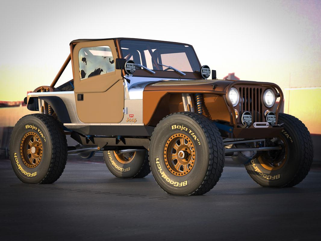 3d jeep cj 7 crawler