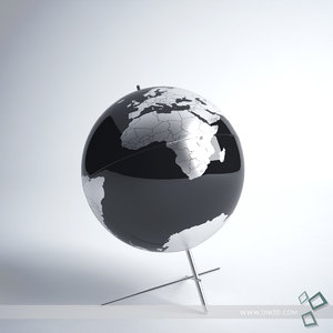 earth globe 3d max