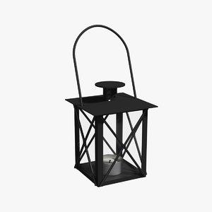decorative lantern 3d lwo