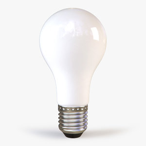 3d standard white light bulb