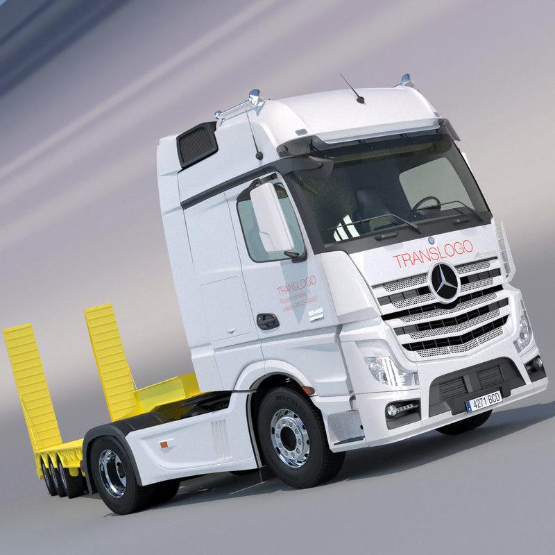 3d model mercedes actros 2012 mp4
