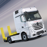 Mercedes Actros 2012 MP4 Gigaspace with Flatbed semi truck