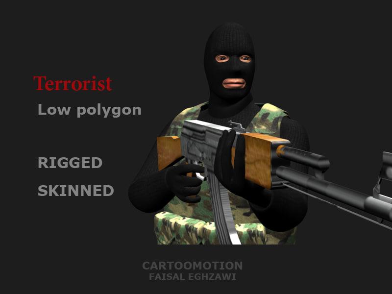 3d model terrorist skinned