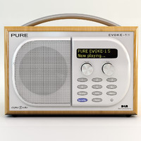 pure evoke 1s radio 3d model