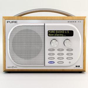pure evoke 1s radio 3d model