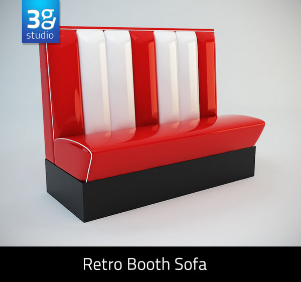 american style retro diner booths 3ds