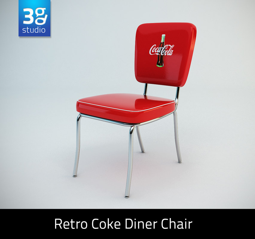 retro diner chair 3d 3ds