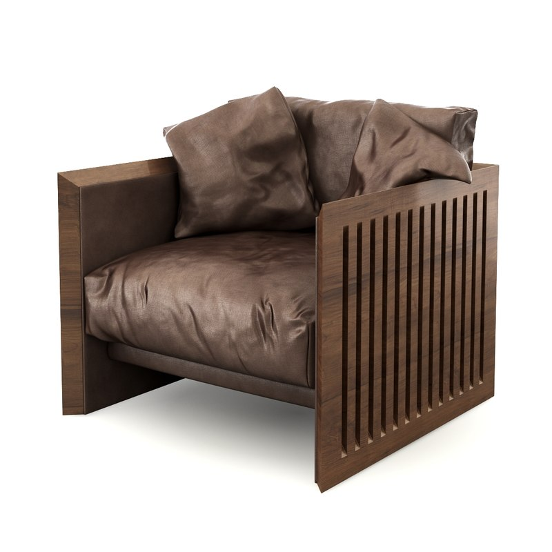 3d model of armchair poltrona riva 1920