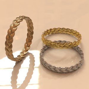 braided bracelet 3d obj