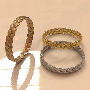 braided bracelet 3d obj