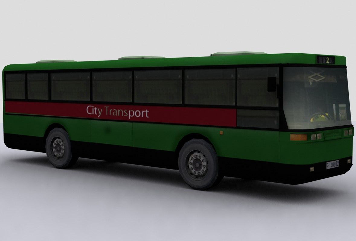 3d coach city bus model