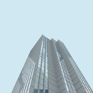 3d model of skyscrapers city