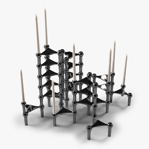 stack candleholders 3d model