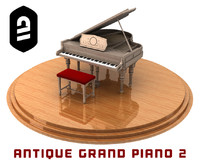 Antique Grand Piano 2
