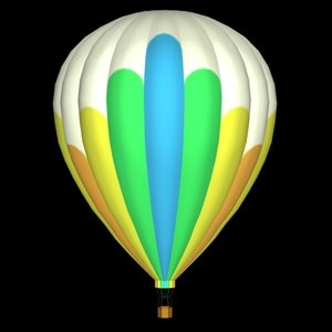 3d model hot air bl
