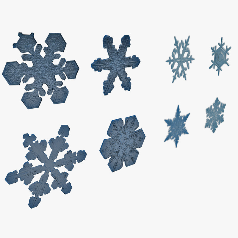 3d model snowflakes 3
