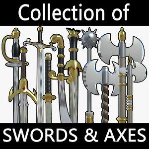 swords axes max
