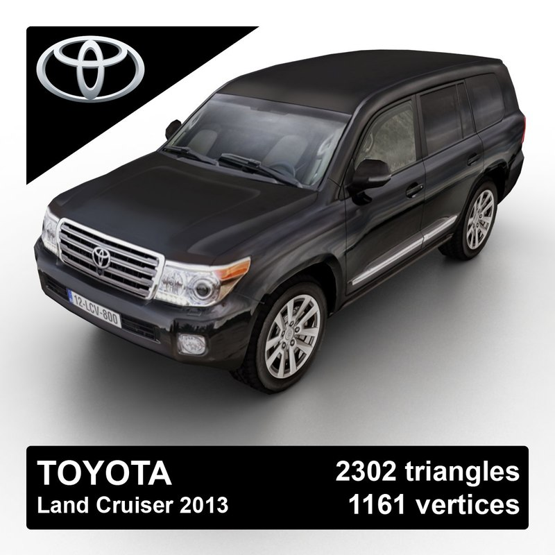 3d model 2013 toyota land cruiser