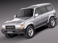toyota land cruiser j80 3d model