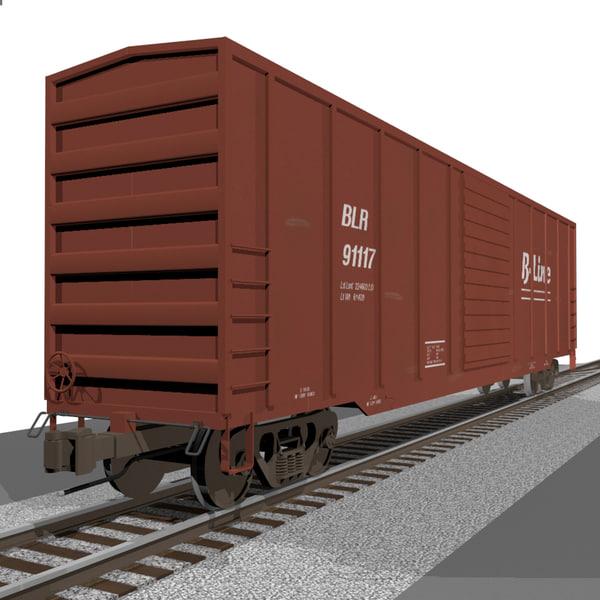 cinema4d train car cargo