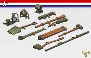 tool set tanks 3d model