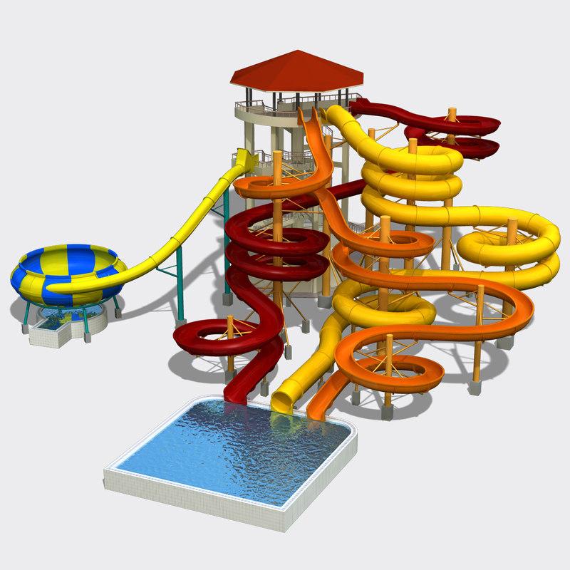 3ds water slides