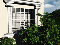 window architectural home 3d model