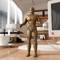 3dsmax devil statuette statue