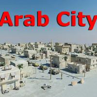 arab city 3d c4d