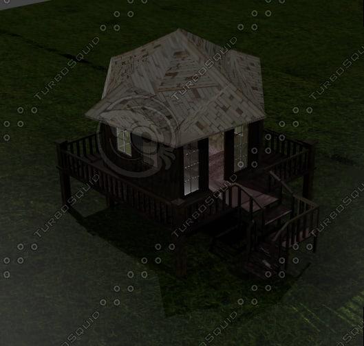 rest house 3d 3ds