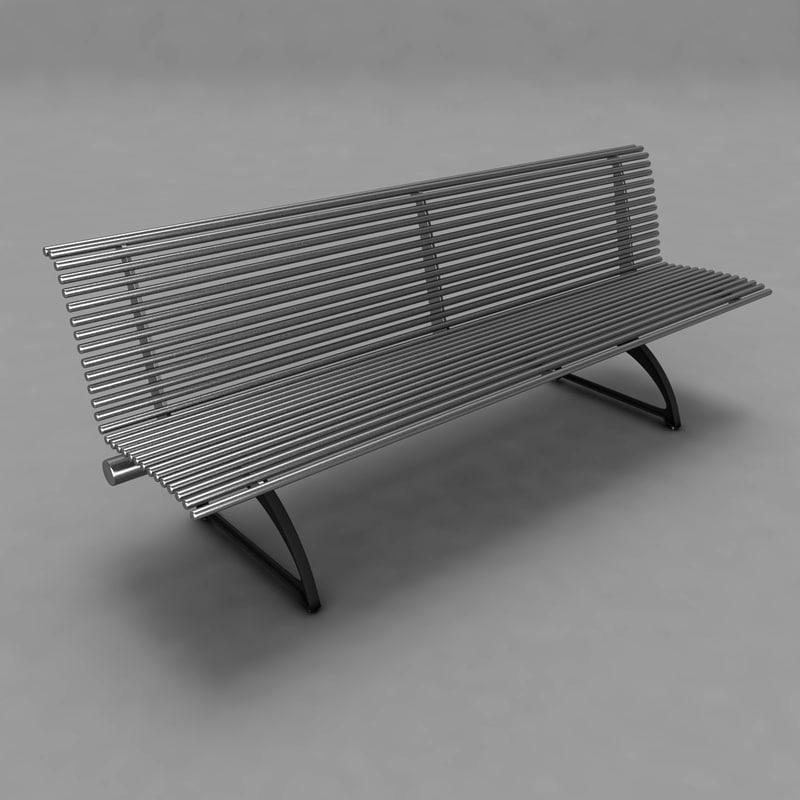 metal bench 3d model